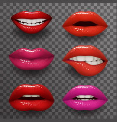 woman lips stylish slightly open mouth isolated 3d vector image