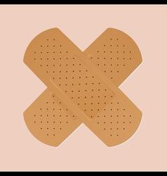 bandaid plaster vector image