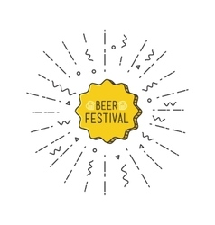 Beer festival shining banner colorful background vector image