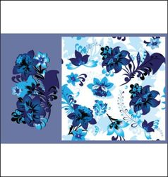 blue flowers seamless vector image