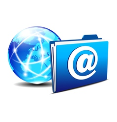 Folder Globe Europe email vector image vector image