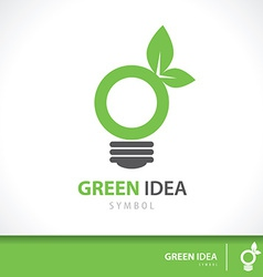 Green idea vector image