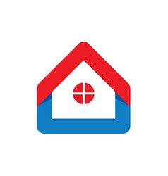 home with window logo vector image