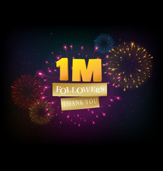 1 million followers celebrations banner vector
