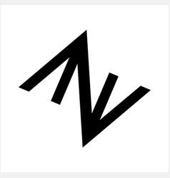 aa av aza azv ana anv initials geometric letter vector image