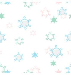 Abstract cute virus seamless pattern coronavirus vector