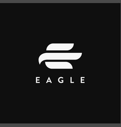abstract e letter for eagle logo icon template vector image