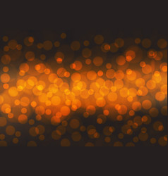 abstract orange bokeh light night background vector image