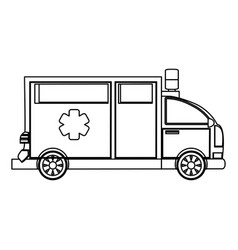 Ambulance emergency vehicle vector
