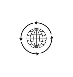 around world globe icon vector image