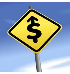 arrow dollar sign vector image