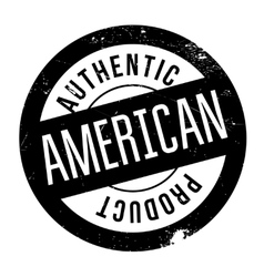 Authentic american product stamp vector