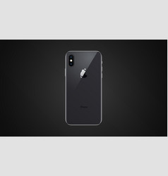back side high quality new phone x with camera vector image
