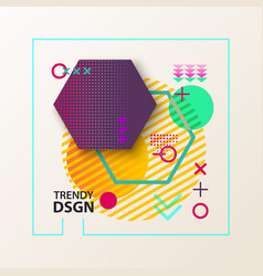 backdrop made different geometric shapes vector image