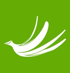 banana peel icon green vector image