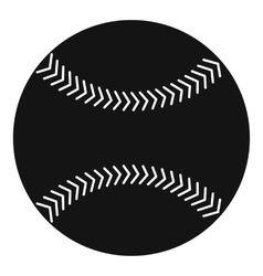Baseball icon simple style vector