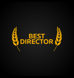 best director laurel film awards winners film vector image