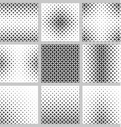 Black and white 4 peaked star pattern set vector image