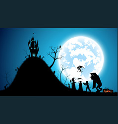 blue backgroundfestival halloween conceptfull vector image