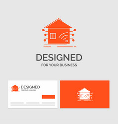 Business logo template for automation home house vector