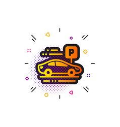 Car parking icon park place sign hotel service vector