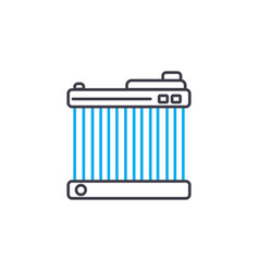 car radiator thin line stroke icon car vector image