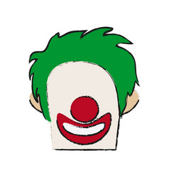 circus clown icon vector image