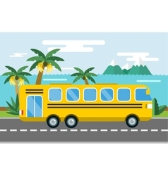 City bus cartoon style icon silhouette vector