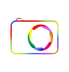 Colorful digital camera vector