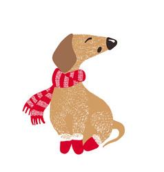 cute dog symbol of year 2018 vector image