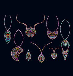 design pendants with colorful beads vector image