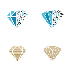 diamond logo design inspiration vector image