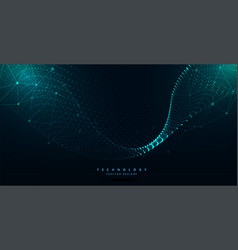 Digital futuristic technology particle wave vector