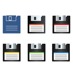 diskette icons set vector image