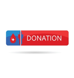 donation blood color vector image