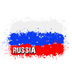 Flag russia from blots paint vector