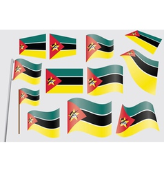 flags of Mozambique vector image