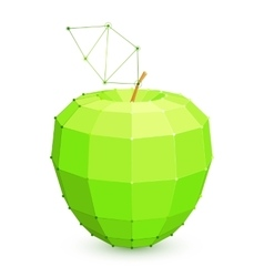 Geometric Green Apple vector