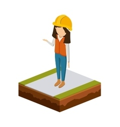 Girl of under construction design vector image
