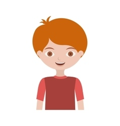 half body child with t-shirt and readhead vector image