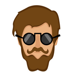 Hipster avatar icon vector