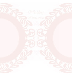 Invitation card ornamental lace vector