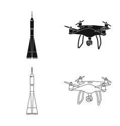 Isolated object of plane and transport icon vector