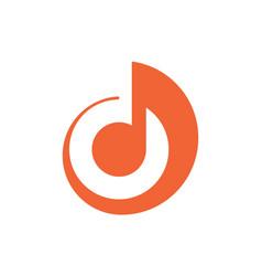 Karaoke note music logo icon vector