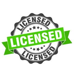 licensed stamp sign seal vector image