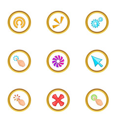 loading cursor icons set cartoon style vector image