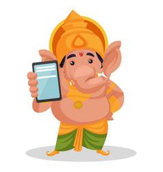 Lord ganesha cartoon character vector