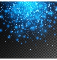 magic blue glow light effect isolated on vector image