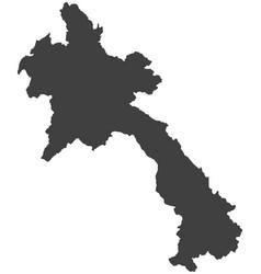 Map of laos vector