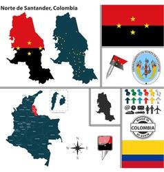 Map of Norte de Santander vector